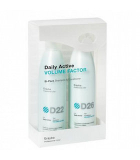Erayba Pack Daily Active Volume Factor (250ml x 2uds)