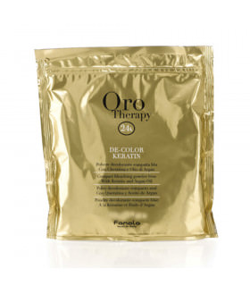 Fanola Oro Therapy Polvo Decolorante Keratina + Argán Sobre 75gr