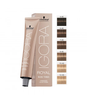 Schwarzkopf Igora Royal Nude Tones 4-46 Marrón Medio Beige Chocolate 60ml
