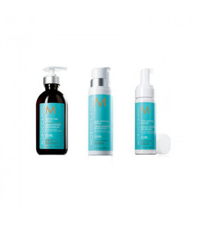 Moroccanoil Trio Curl 3: Intense Curl Cream (300ml) + Curl Defining Cream (250ml) + Curl Control Mousse (150ml)