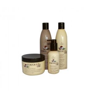 Hair Chemist Pack Coconut Oil: Champú (295ml) + Acondicionador (295ml) + Mascarilla Reparadora (227gr) + Serum (118ml)
