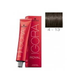 Schwarzkopf Igora Royal 4-13 Castaño Medio Ceniza Mate 60ml