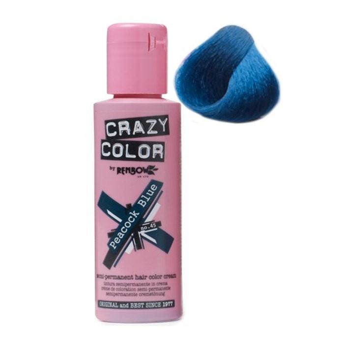 tintes de pelo crazy color peacock blue. Black Bedroom Furniture Sets. Home Design Ideas