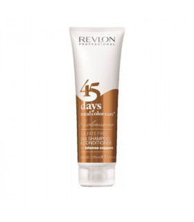 Revlonissimo 45 Days Champú 2en1 Total Color Care Intense Coppers 275ml