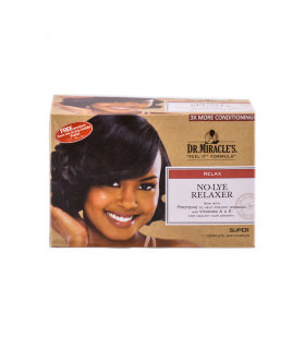 Dr Miracles Kit No-lye Relaxer Super (1 aplicación)