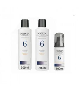 Nioxin System 6 Pack Anticaída: Champú (300ml) + Acondicionador (300ml) + Tratamiento (100ml)