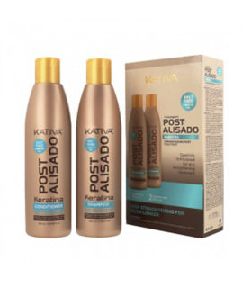Kativa Post Alisado Kit x 2 (Champú + Acondicionador 250ml)