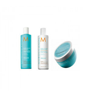 Moroccanoil Trio Volume: Champú (250ml) + Acondicionador (250ml) + Mascarilla (250ml)