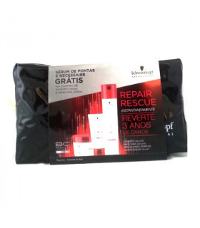 Pack Schwarzkopf BC Repair Rescue: Shampoo (250ml) + Treatment (200ml) + Sealed Ends Treatment (75ml)