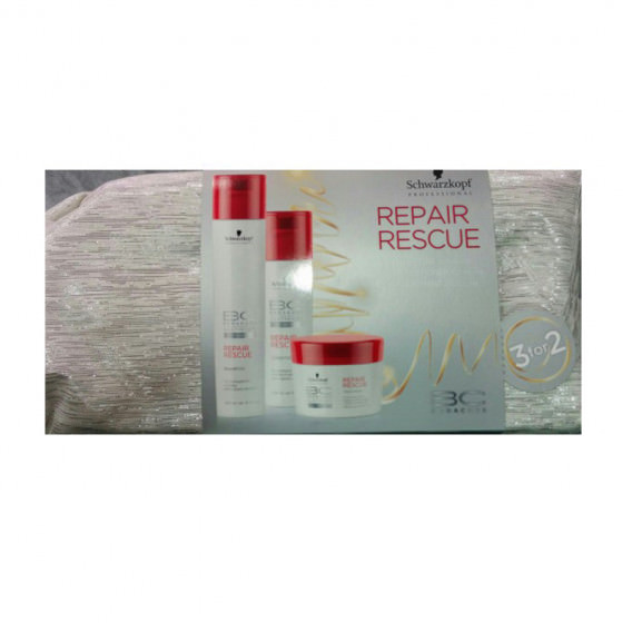 Pack Schwarzkopf BC Repair Rescue Champú + Acondicionador + Mascarilla (200ml)