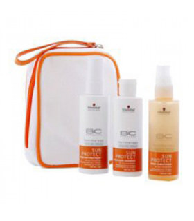 Schwarzkopf Travel Kit BC Sun Protect: Spray Conditioner (100ml) + Hair&Body Shampoo (100ml) + After Sun Treatment (100ml)