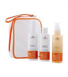 Schwarzkopf Travel Kit BC Sun Protect: Spray Conditioner (100ml) + Hair&Body Shampoo (100ml) + After Sun Treatment (100ml)