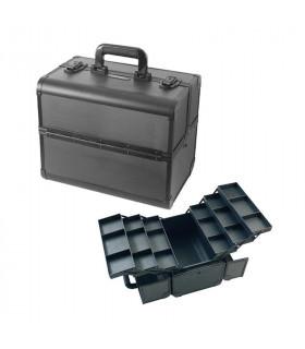 Eurostil Maleta Aluminio Negra 36 x 24 x 29,5