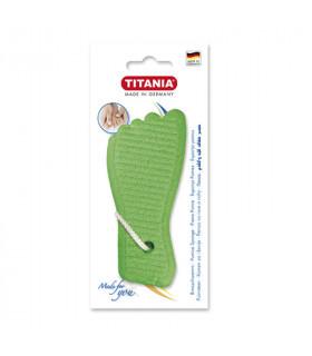 Titania Esponja Pómez Forma Pie Color Verde