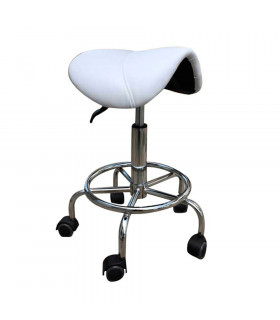 Silla Rodeo Base Metal Blanco