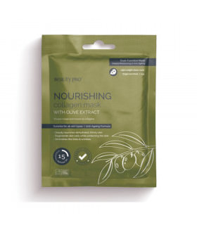Beauty Pro Nourishing Collagen Sheet Mask With Olive Stract 23g