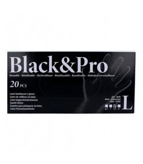 Sinelco Black & Pro Guantes Latex 20u/d Negro L