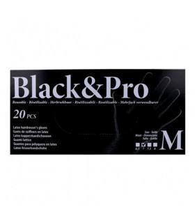 Sinelco Black & Pro Guantes Latex 20u/d Negro M