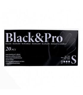 Sinelco Black & Pro Guantes Latex 20u/d Negro S