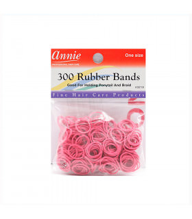 Annie 300 Rubber Bands Pink/rosa 3219 (Gomas)
