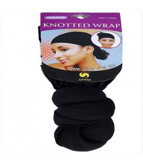 Lb Knotted Wrap/cap Nudo Envolv Negro (12048)