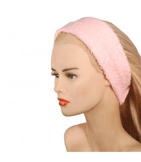 Confeccion Turbante Rizo Cierre Velcro Rosa Algodón