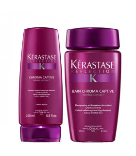 Kerastase Réflection Duo: Bain Chroma Captive (250ml) + Fondant Chroma Captive (200ml)
