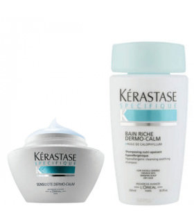 Kerastase Dermo-calm Duo Pack: Shampoo (250ml) + Masque (200ml)
