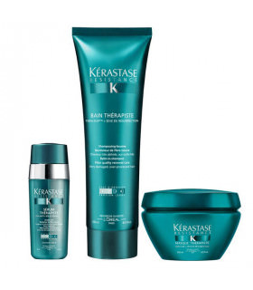 Kerastase Trio New Résistance Therapiste: Champú (250ml) + Mascarilla (200ml) + Serum (30ml)