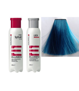 Elumen Duo: Tinte TQ@all Turquesa Fantasía 200ml + Tratamiento Sellador 250ml