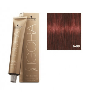 Schwarzkopf Professional Igora Royal Absolutes 6-80 Rubio Oscuro Rojo Natural 60ml