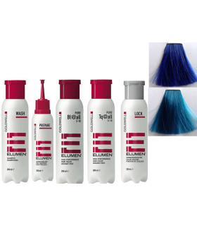 ELUMEN KIT COMPLETO BL@ALL AZUL (200ML) + TQ@ALL TURQUESA FANTASÍA (200ML)