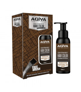 Agiva Semi Permanent Hair Color Brown 125Ml