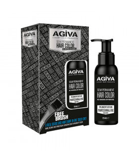 Agiva Semi Permanent Hair Color Black 125Ml