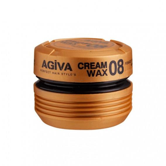 Agiva Cream Wax 08 Pomade / Shine Finish Medium Control 175Ml