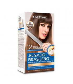 Kativa Kit De Alisado Brasileño Para Cabello Oscuro