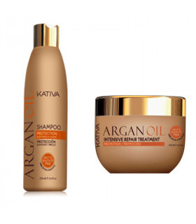 Kativa Argan Oil Pack: Champú (250ml) + Mascarilla (250ml)