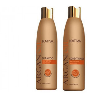Kativa Argan Oil Pack: Champú (250ml) + Acondicionador (250ml)