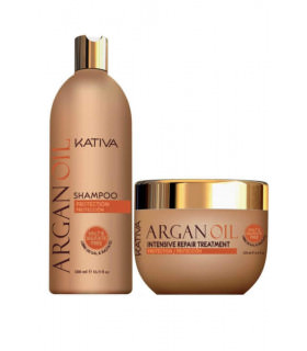 Kativa Argan Oil Pack: Champú (500ml) + Mascarilla (500ml)