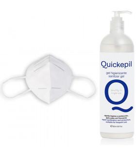 Quickepil Gel Hidroalcoholico 500ml + Mascarilla De Proteccion KN95 FFP2