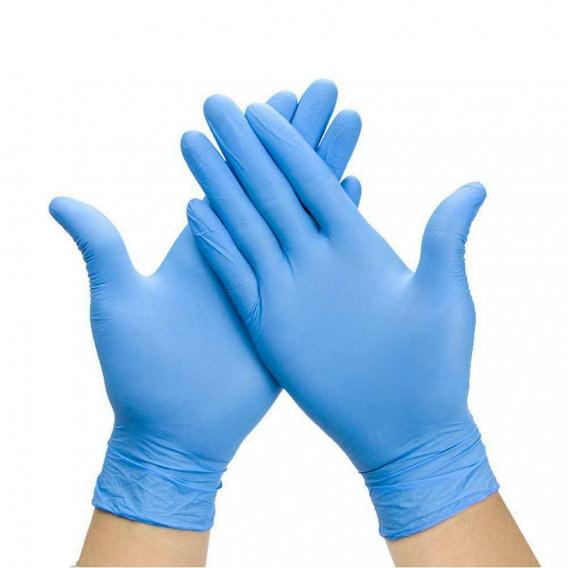 Caja 100 Guantes Nitrilo Azul Sin Polvo