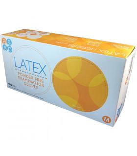 Caja 100 Guantes Latex Sin Polvo