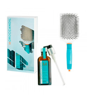 Moroccanoil Pack Treatment Light 100ml Paddle Brush