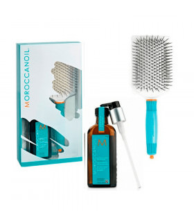 Moroccanoil Pack Treatment 100ml Paddle Brush