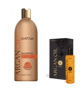 Kativa Argan Oil Pack: Champú (500ml) + Oil 4 Oils (120ml)