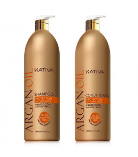 Kativa Argan Oil Pack: Champú (1000ml) + Acondicionador (1000ml)