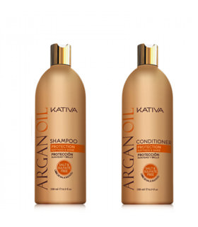 Kativa Argan Oil Pack: Champú (500ml) + Acondicionador (500ml)