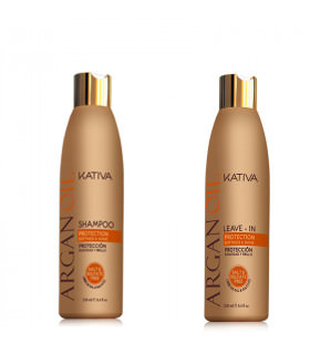 Kativa Argan Oil Pack: Champú (250ml) + Leave-In (250ml)