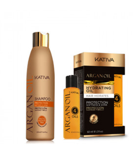 Kativa Argan Oil Pack: Champú (250ml) + Oil 4 Oils (60ml)