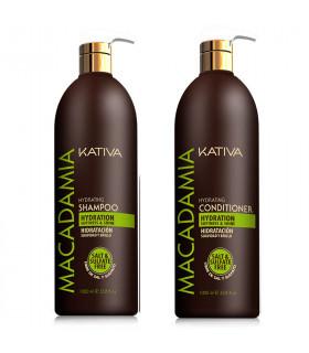 Kativa Macadamia Pack: Champú (1000ml) + Acondicionador (1000ml)